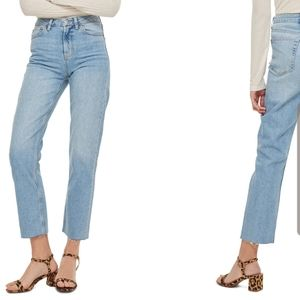 Free People • Stone Wash Highrise Straight Crop